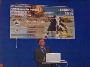 Denis Biéri à la tribune de la Conférence Européenne 2014