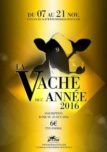 affiche de la Vache de l'Année 2016