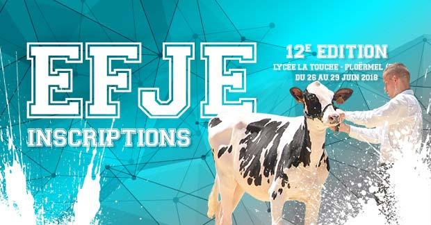 Les inscriptions pour l'EFJE 2018 sont ouvertes!