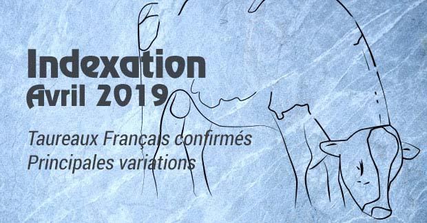 Indexation d'Avril 2019 : variations d'index chez les taureaux français confirmés