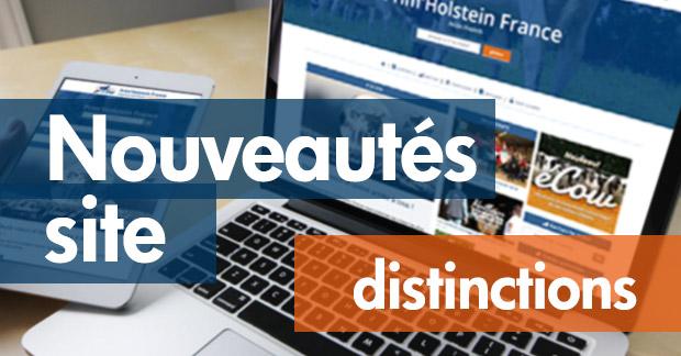 Nouveautés sur notre site : répertoire de vos distinctions
